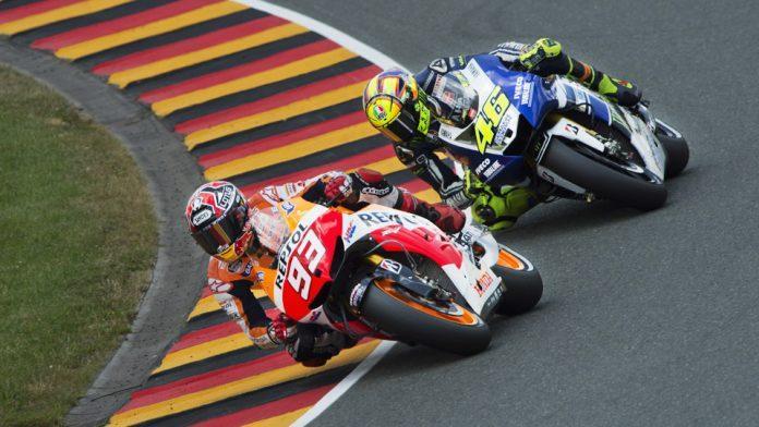 Sachsenring Rossi Marquez