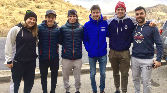 Scott Redding, Kiara Fontanesi ed i fratelli Marquez