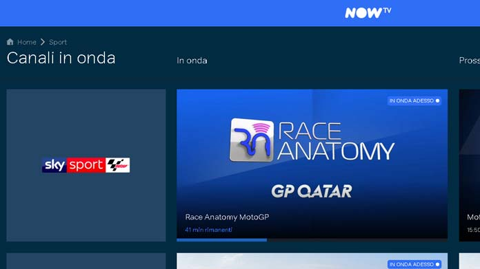 motogp streaming nowtv