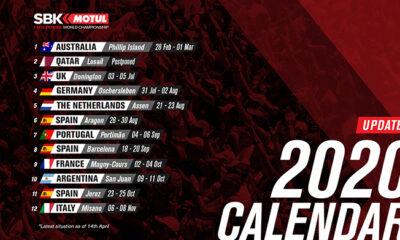 Calendario aggiornato sbk 2020 14 aprile