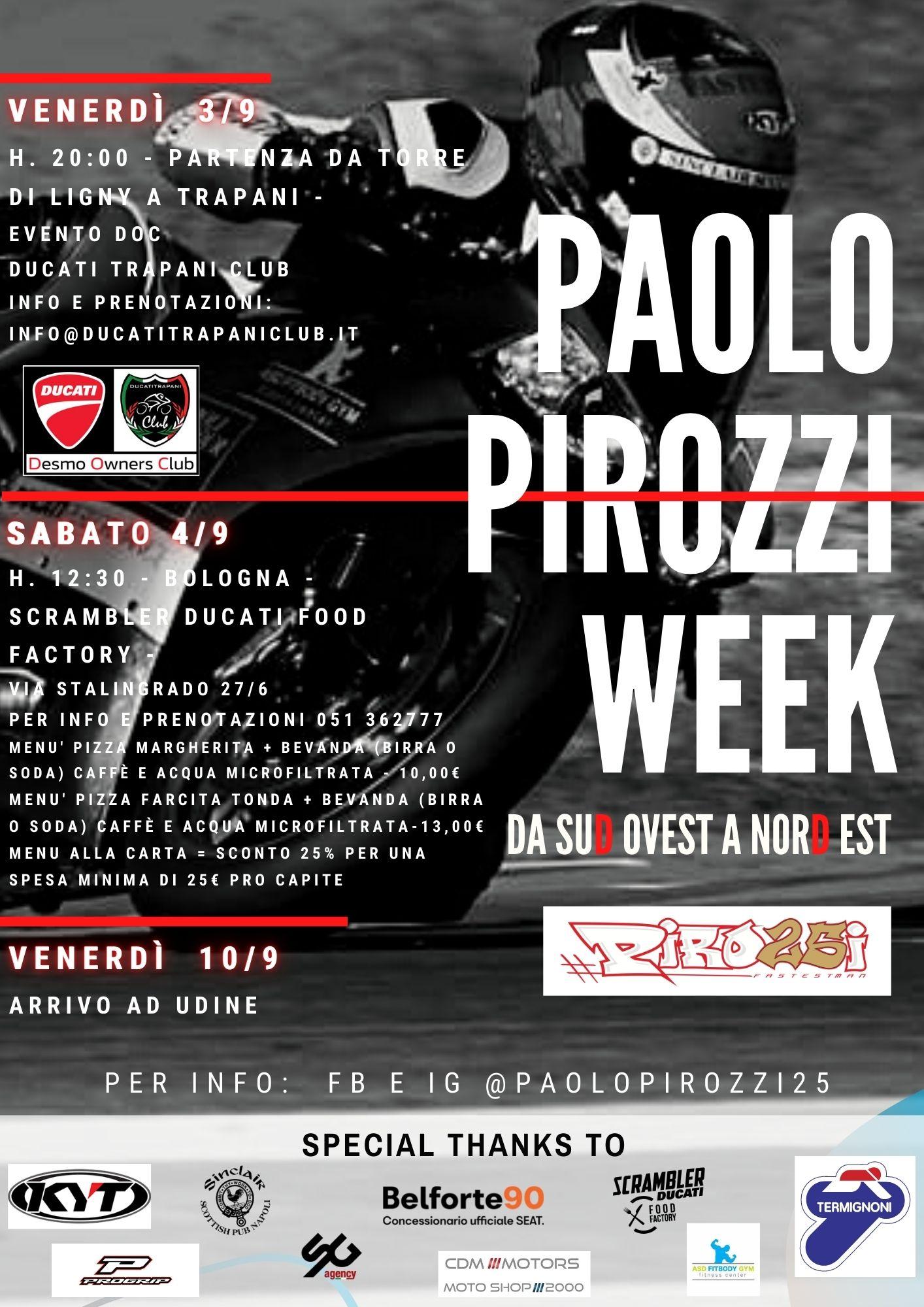 Locandina Paolo Pirozzi Week 2021